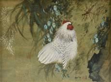 "HUI CHI MAU (Chinese b. 1922) A PAINTING, ""Chicken,"""