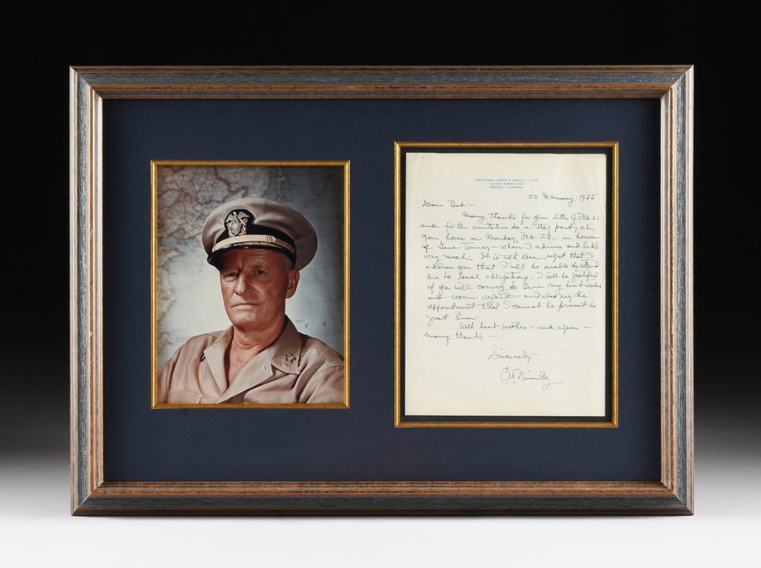 ADMIRAL CHESTER W. NIMITZ (1885 - 1966), A SIGNED