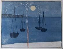 B.J.O. Nordfeldt, woodblock 'The Skyrocket'