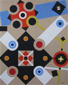 Large abstract painting by James McCray
