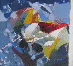 Lorenzo Tornabuoni - Colorful Abstract Oil Painting