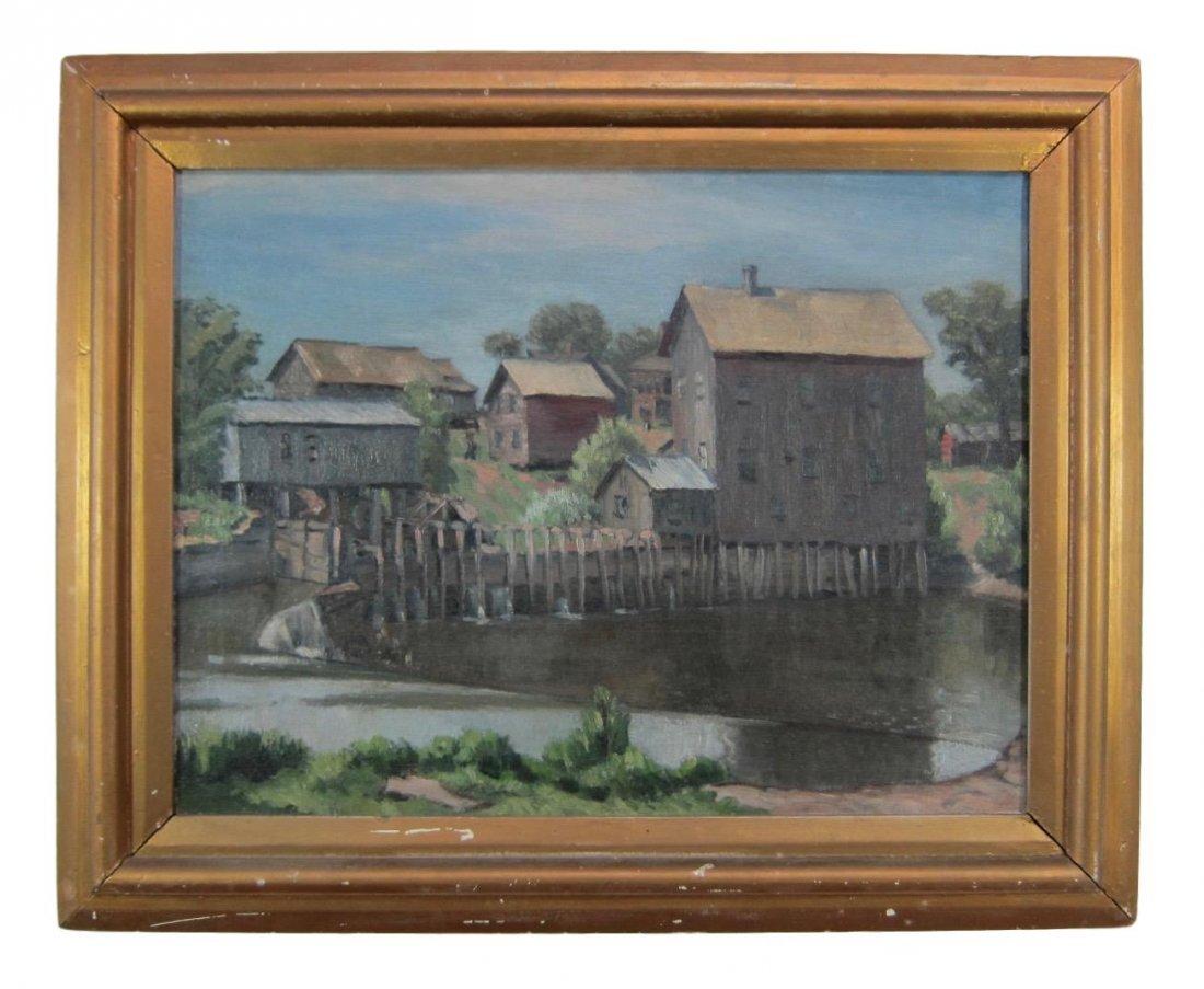 Arnold Ness Klagstad - WPA Oil Painting - 2
