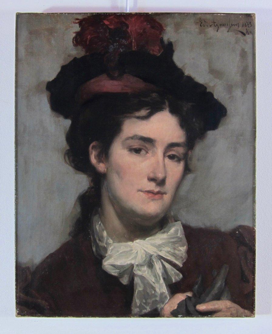 Edouard Agneessens - Portrait of a Woman - 2