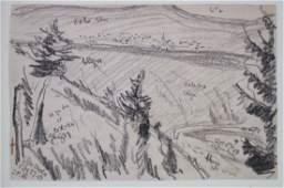 Oscar Bluemner American Modernist Drawing - Glen Onoco