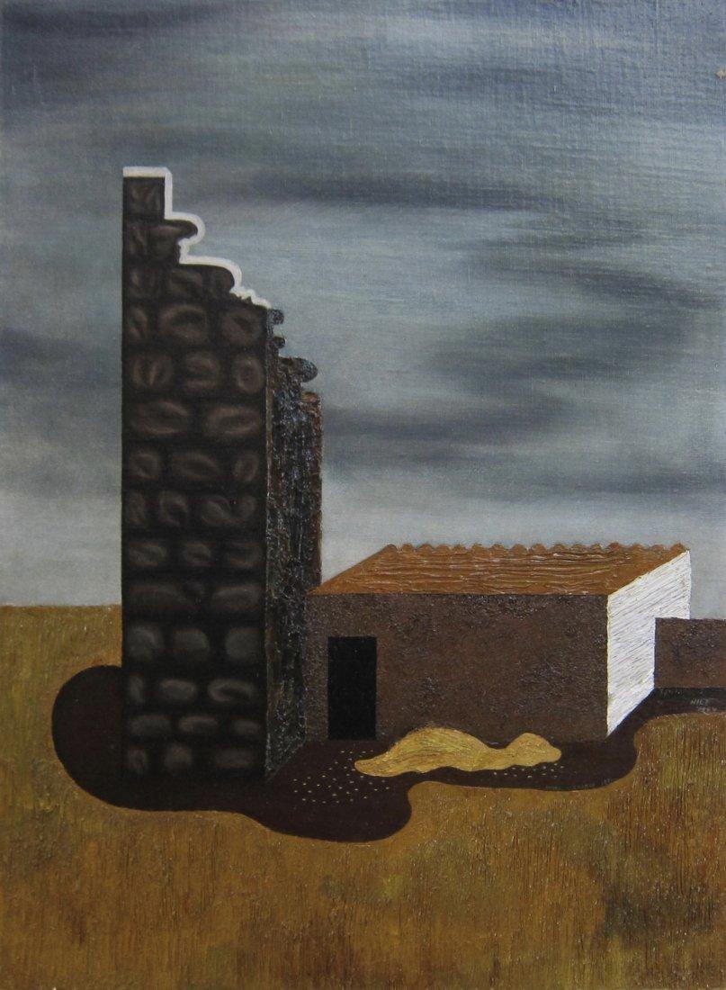 Hilaire Hiler Exhibited Surrealist Oil Painting 1931
