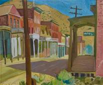 Margaret Bruton Oil Painting of Virginia City, NV