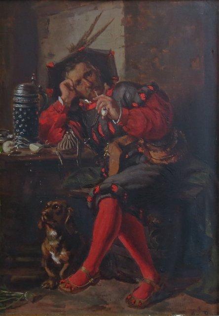 Anna Barth, 19th c.,  Man sitting in tavern