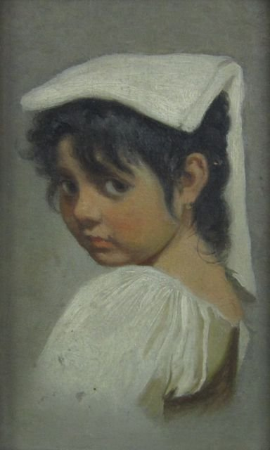 Portrait of a young girl, (unknown artist)