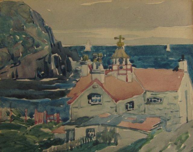 George Ennis, (New York, 1884-1936), Coastal scene