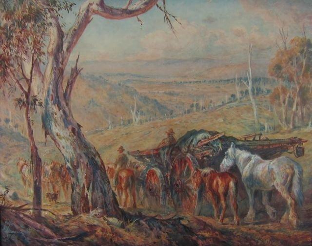 William Young, (Australia, 20th c.), Hay Wagons