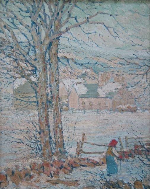 James Preston, (Penn.,1873-1962), Winter scene