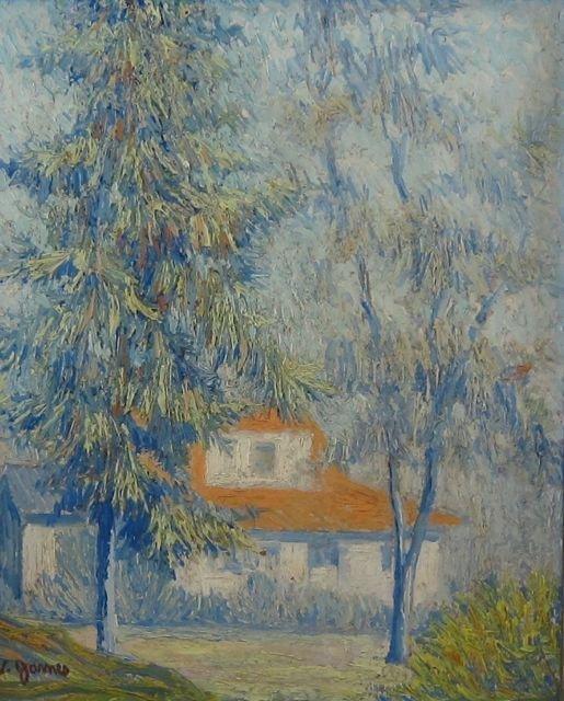 V. James, (unknown artist), Impressionist scene
