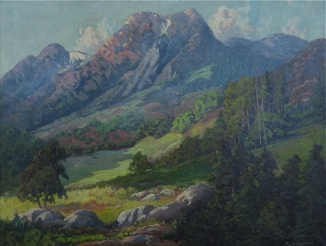 Peter Hohnstedt, (American, 1871-1957), Mountainscape