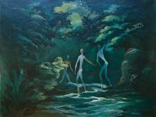 Dorr Bothwell Surrealist oil painting