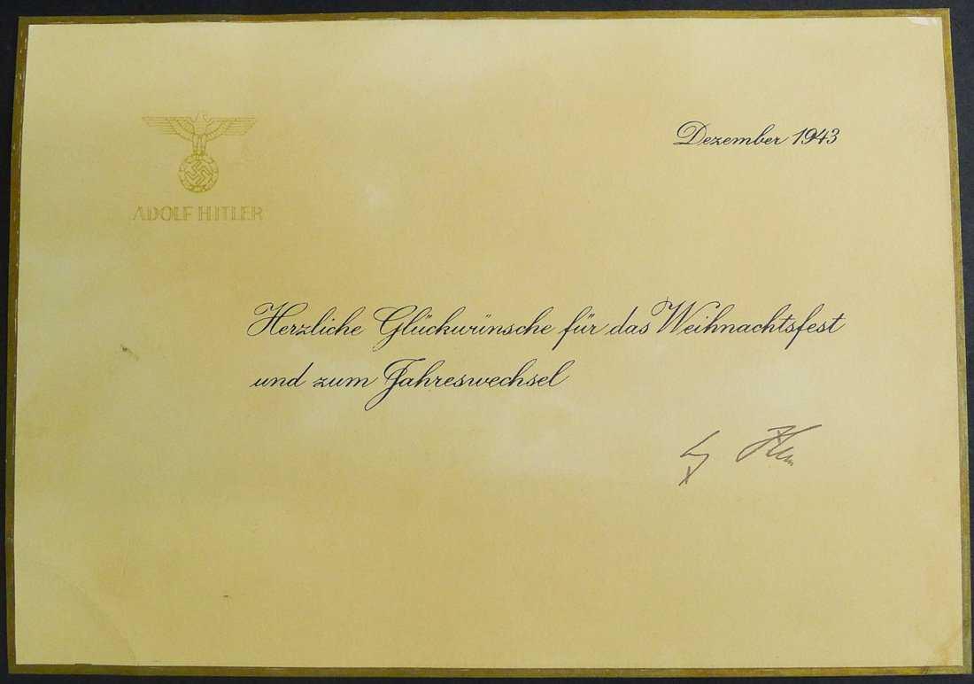 Adolf Hitler Nazi Christmas Greeting Card