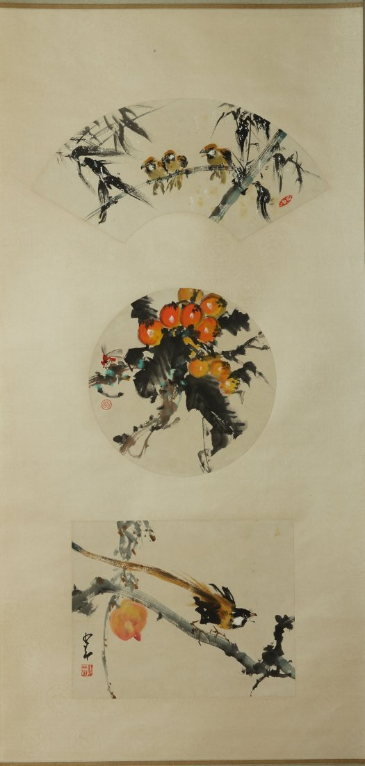 CHINESE SCROLL PAINTING BY ZHAO SHAO'ANG