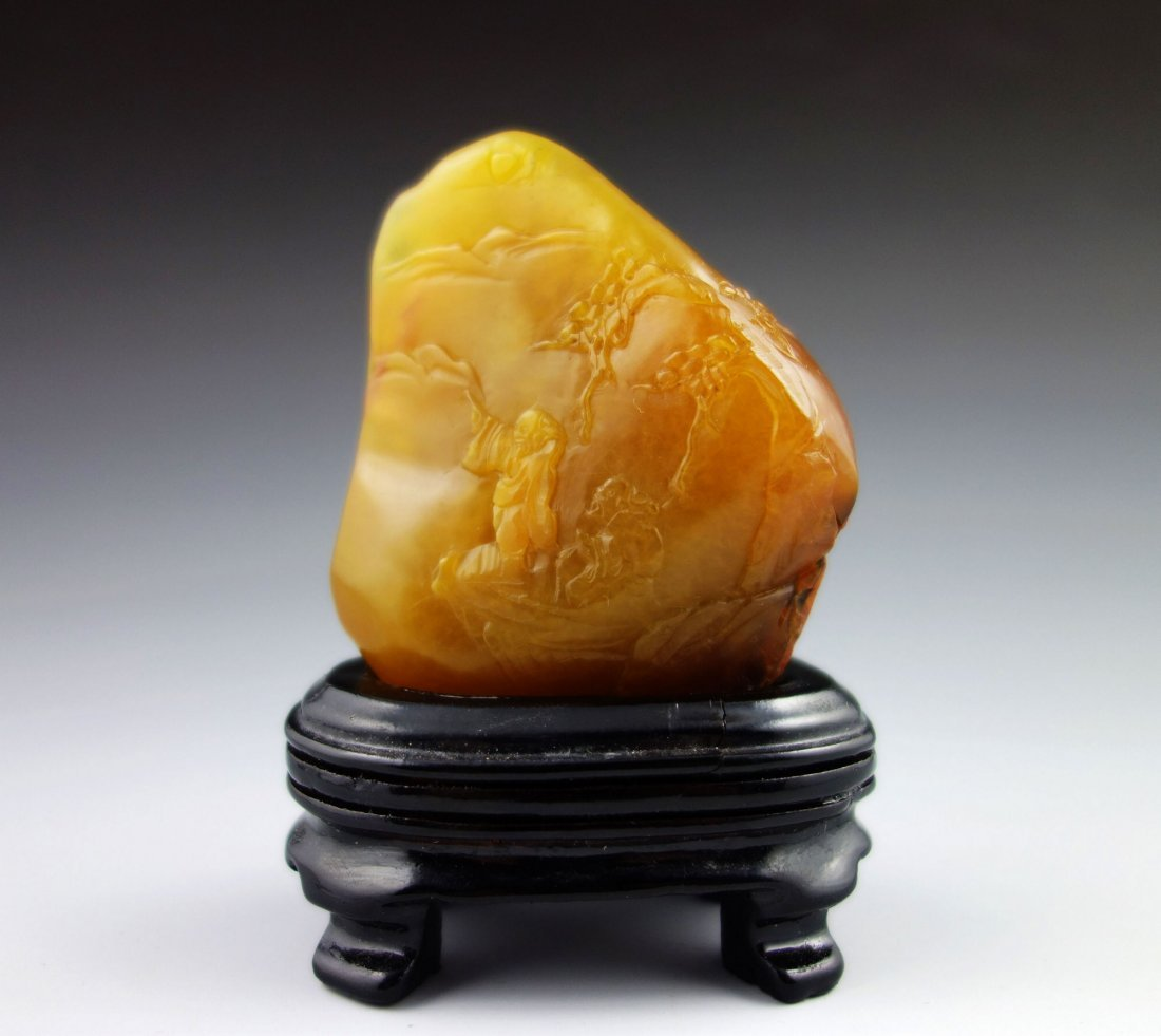 SHOU SHAN TIANHUANG CRAVED SEAL OR ORNAMENT