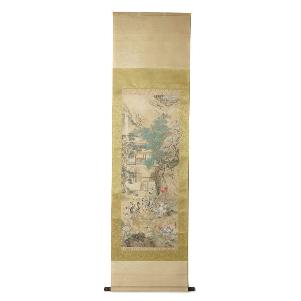VINTAGE CHINESE SCROLL PAINTING BY CHOU YING