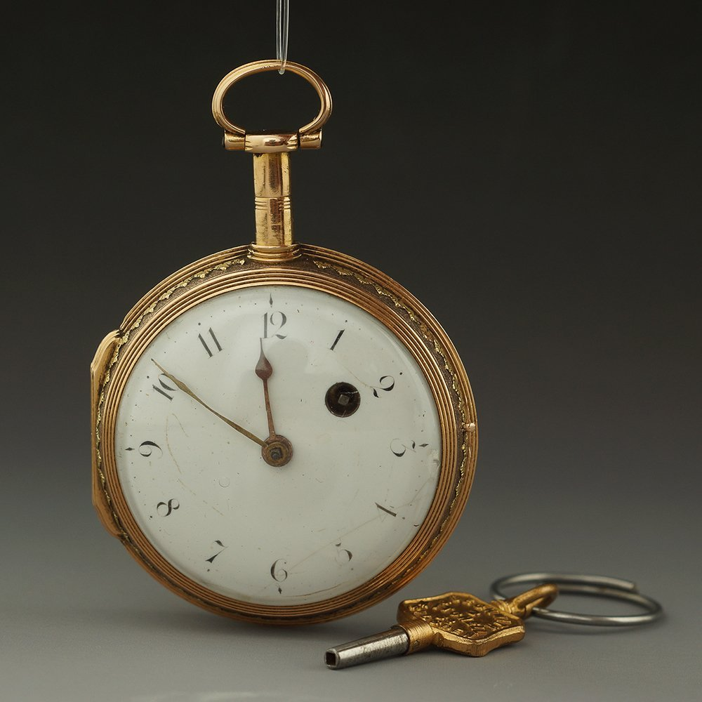 1800 FRENCH 22K GOLD POCKET WATCH