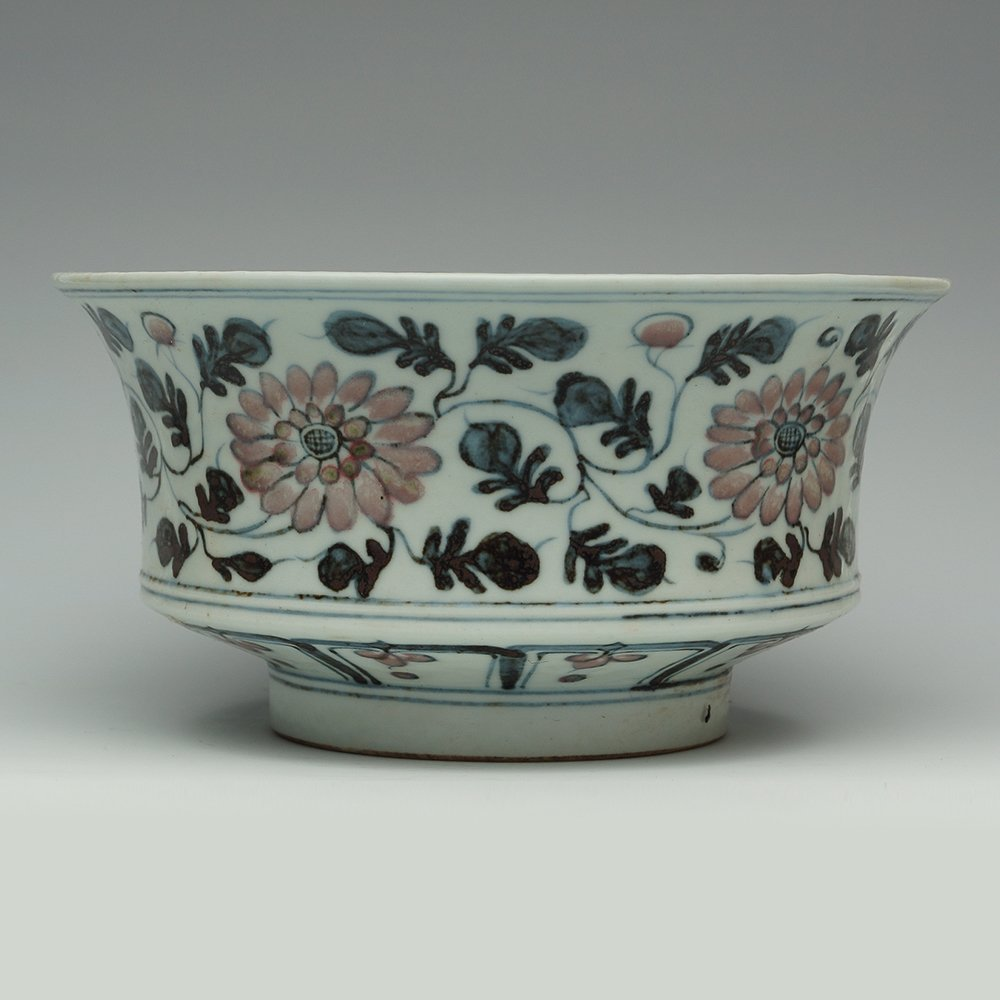 CHINESE BOWL WITH FLORAL