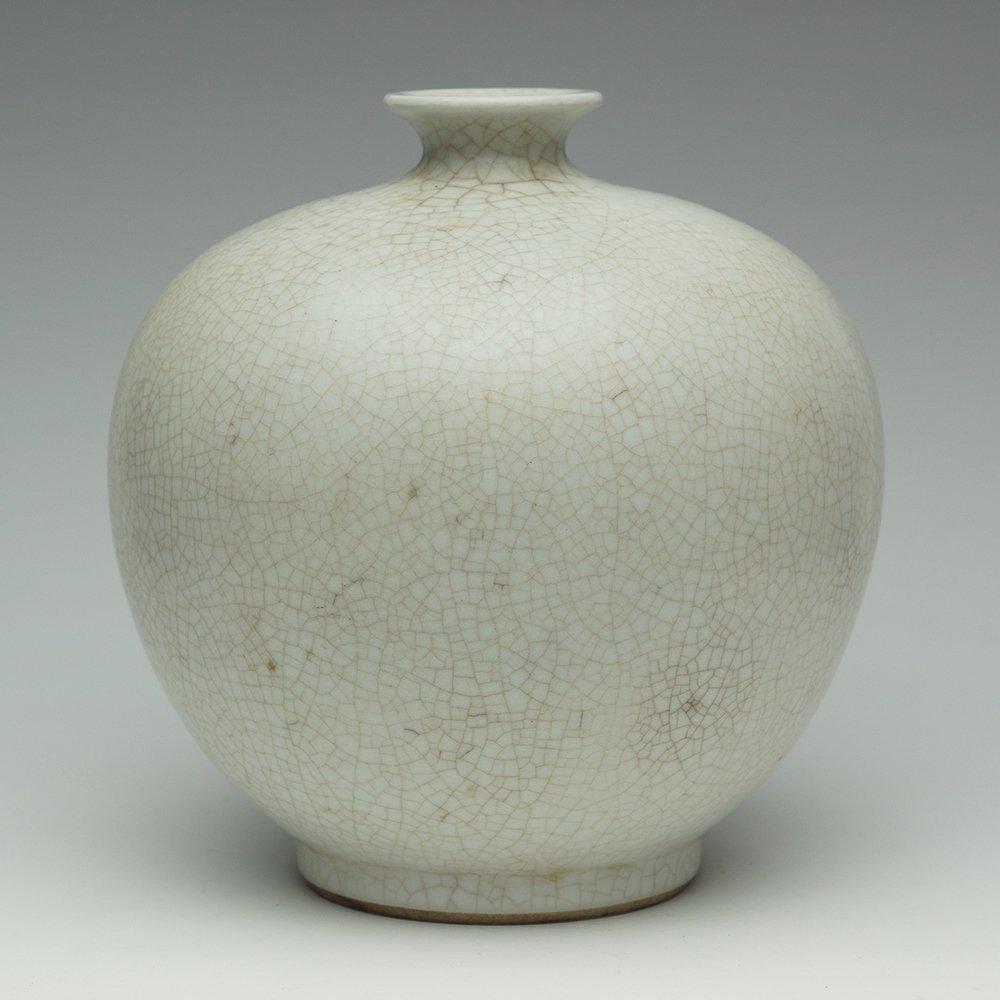 CHINESE WHITE GLAZE ZUN