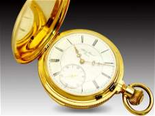 JAMES PICARD 18K GOLD MINUTE REPEATER POCKET WATCH