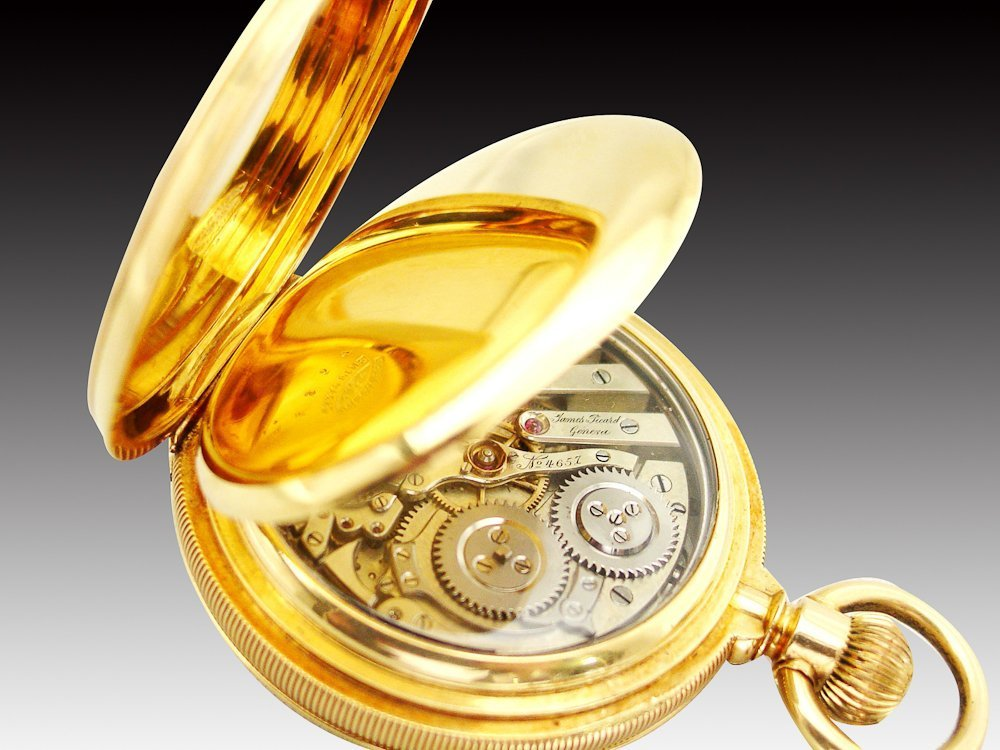 JAMES PICARD 18K GOLD MINUTE REPEATER POCKET WATCH - 2