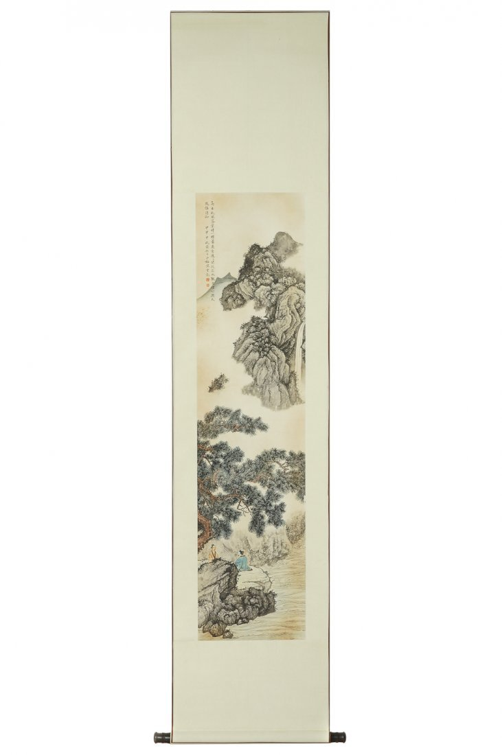 CHINESE SCROLL PAINTING BY CHEN SHAOMEI
