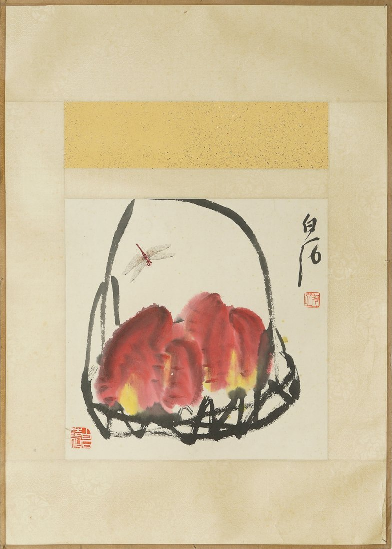 CHINESE SHRIMP PAINTING BY QI BAISHI
