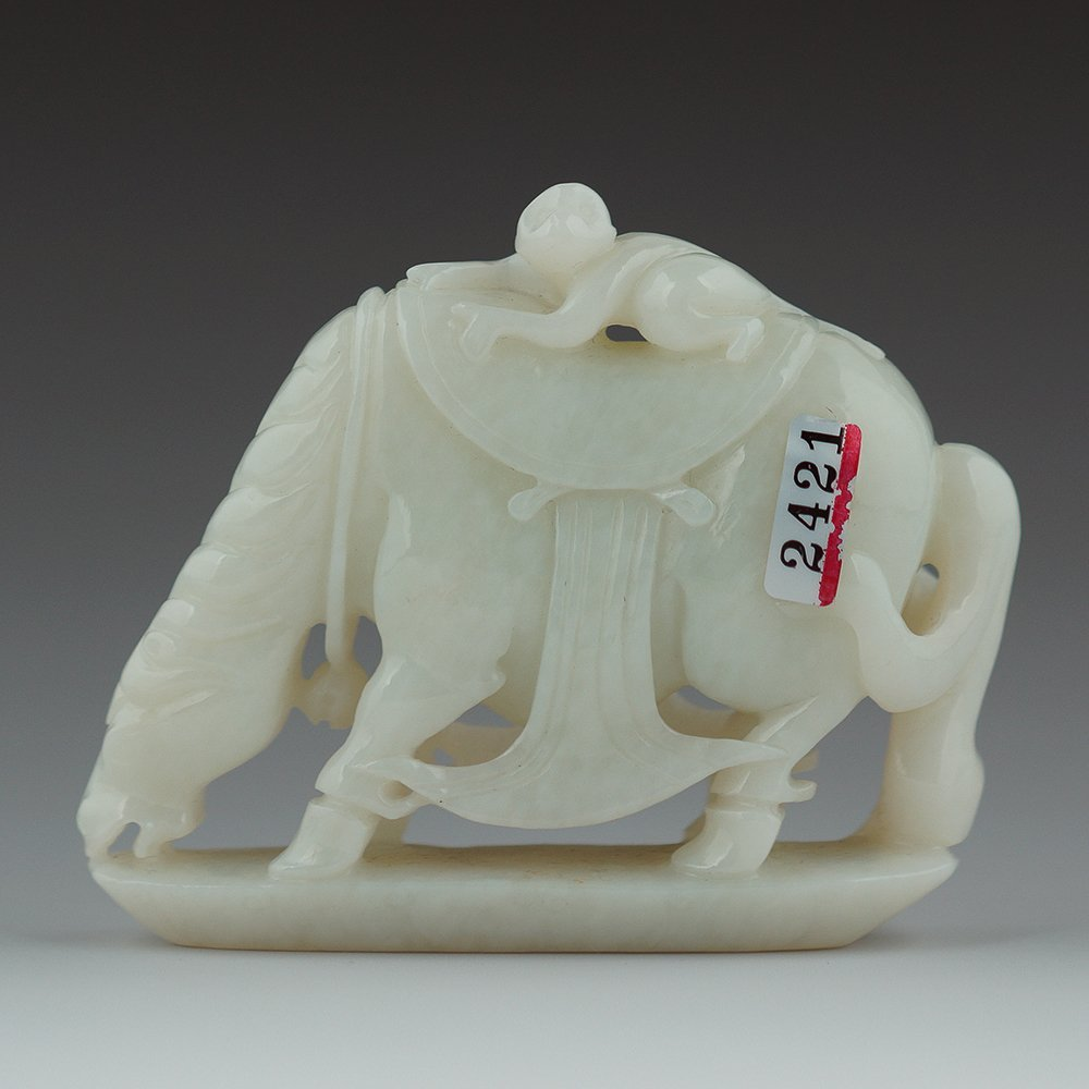 CHINESE CARVED NEPHRITE WHITE JADE GROUP