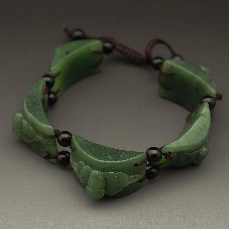 CHINESE GREEN NEPHRITE JADE BRACELET