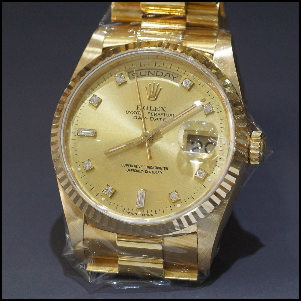 ROLEX 18K SOLID YELLOW GOLD PRESIDENT DAY-DATE 18238 DO