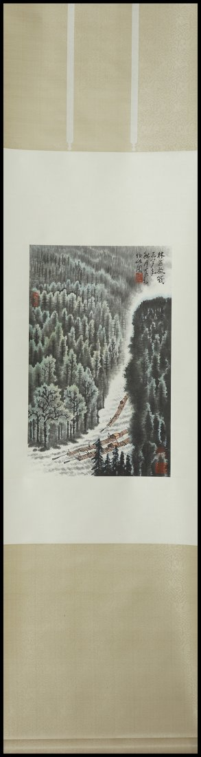 CHINESE SCROLL PAINTING (LANDSCAPE )