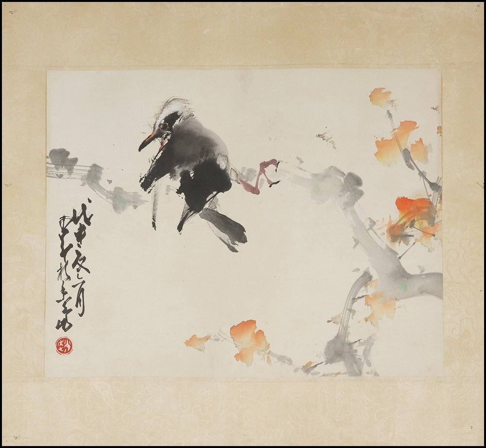 Chinese watercolor Scroll hand painting