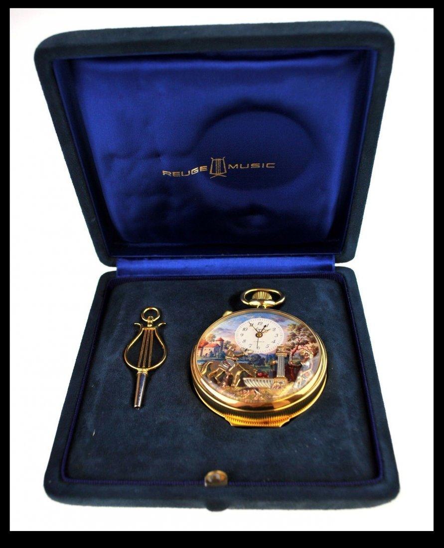 Swiss Automaton Music Box Pocket Watch, Arnex