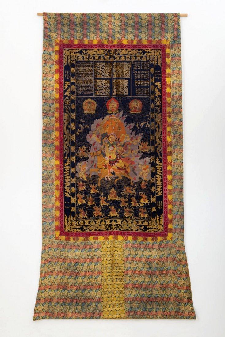 Antique Qing Dynasty Tibetan Thangka, Qing Dynasty
