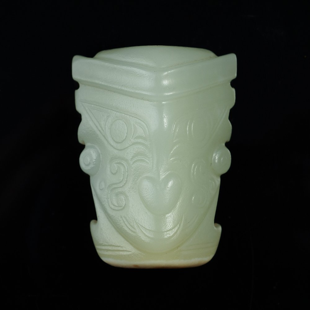 Hetian white jade ornament