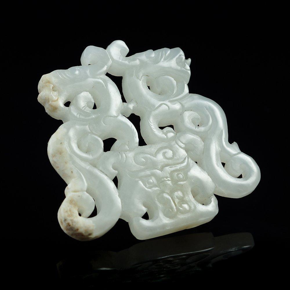 Hetian white jade adornment