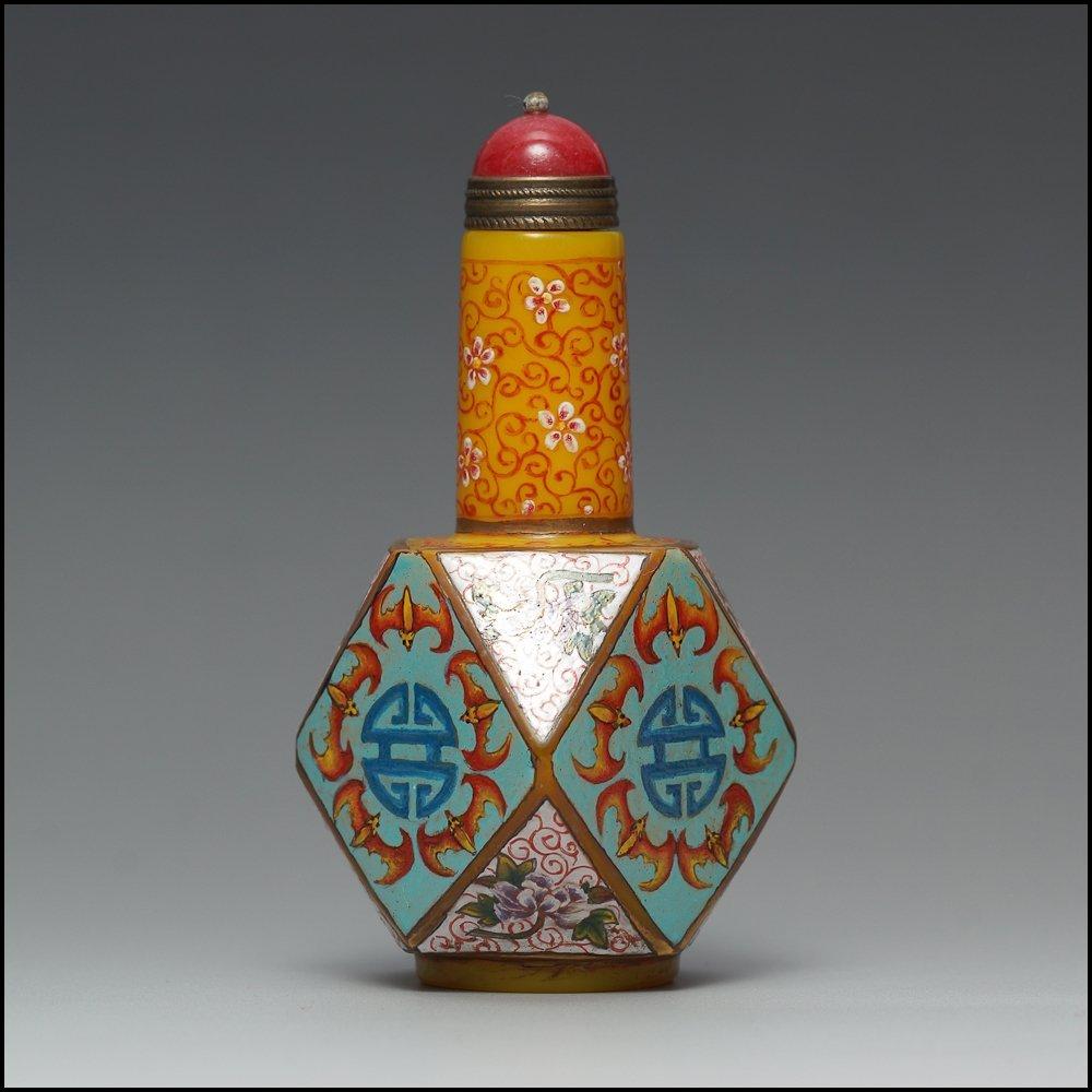 Chinese Glassware Enamel Colors Snuff Bottle