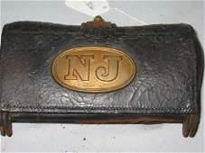 "750: POST CIVIL WAR CARTRIDGE BOX, CARBINE, BRASS ""N"""