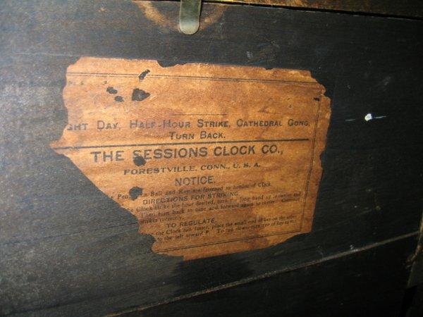 101: SESSIONS MANTEL CLOCK, FORESTVILLE, CONN. - 4