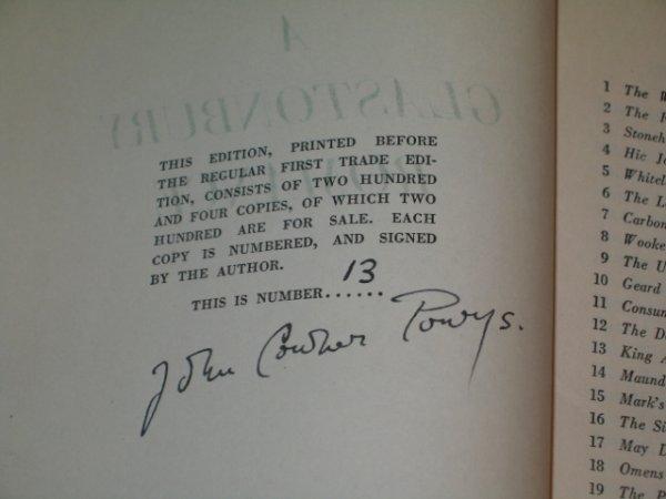 "16: 1932 SGD LTD ED POWYS ""A GLASTONBURY ROMANCE"". - 3"