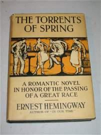 "59: 1926 1ST ED HEMINGWAY,""THE TORRENTS OF SPRING""."