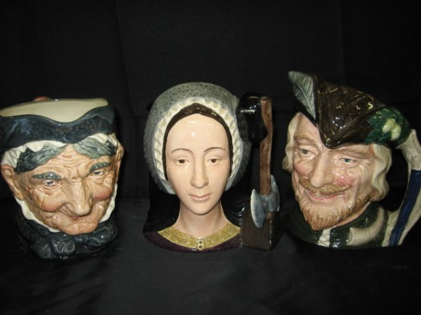 9: LOT OF 3 ROYAL DOULTON CHARACTER MUGS