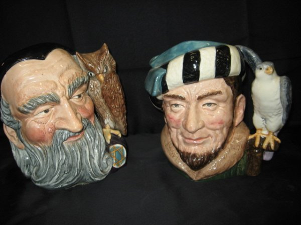 12A: LOT 2 PCS. ROYAL DOULTON CHARACTER MUGS, MERLI