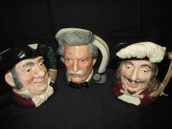 14: LOT OF 3 ROYAL DOULTON CHARACTER MUGS