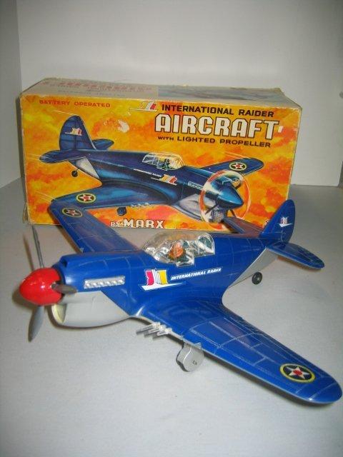 519: MARX INT. RAIDER AIRCRAFT W/ LIGHTED PROPELLER