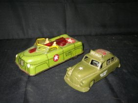 COURTLAND FRICTION ARMY CAR & IDEAL RUBBER FRICTIO