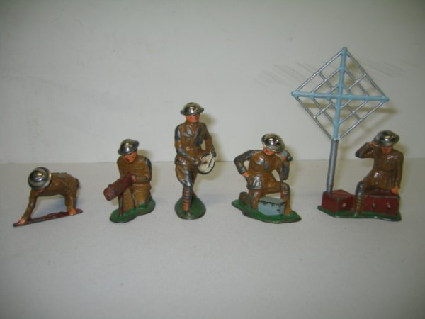 6: BARCLAY LEAD TOY SOLDIERS, 5 TOTAL