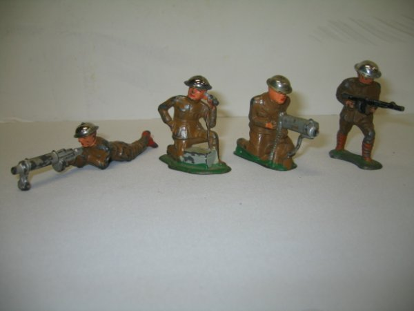 8: BARCLAY LEAD TOY SOLDIERS, 4 TOTAL
